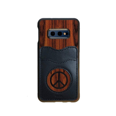 Thalia Phone Case Santos Rosewood & Peace Sign Inked | Wallet Phone Case Samsung Galaxy S10 E