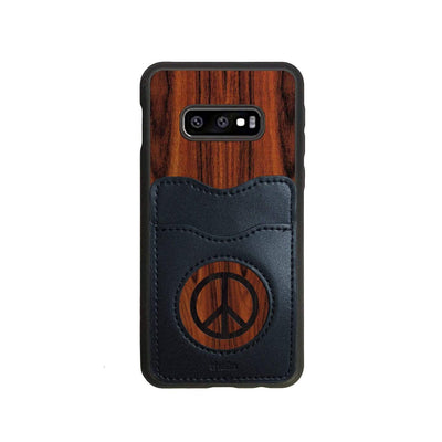 Thalia Phone Case Santos Rosewood & Peace Sign Inked | Wallet Phone Case Samsung Galaxy S10 Lite