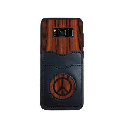 Thalia Phone Case Santos Rosewood & Peace Sign Inked | Wallet Phone Case Samsung Galaxy S8