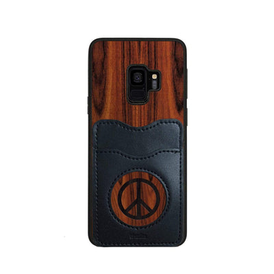 Thalia Phone Case Santos Rosewood & Peace Sign Inked | Wallet Phone Case Samsung Galaxy S9