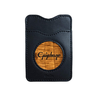 Thalia Phone Wallet Epiphone Logo Inked | Leather Phone Wallet AAA Curly Koa