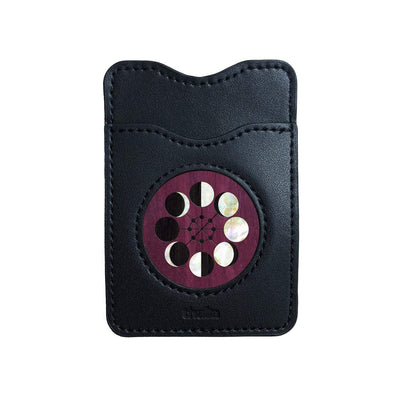 Thalia Phone Wallet Pearl Moon Phases | Leather Phone Wallet Purpleheart