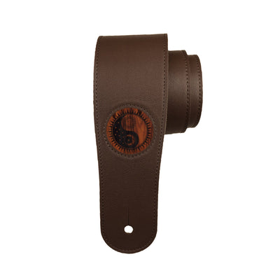 Thalia Strap Santos Rosewood & Yin Yang Night & Day Engraving | Italian Leather Strap Dark Chocolate / Standard