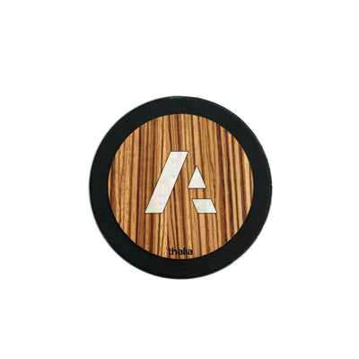 thalia Wireless Charger Anaplan Pearl A Logo | Fast Wireless Charger African Zebrawood / Large (100mm)