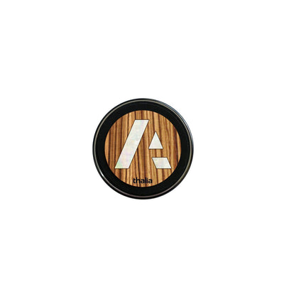 thalia Wireless Charger Anaplan Pearl A Logo | Fast Wireless Charger African Zebrawood / Small (70mm)