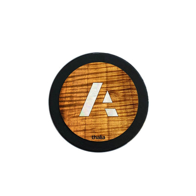 thalia Wireless Charger Anaplan Pearl A Logo | Fast Wireless Charger Curly Hawaiian Koa / Large (100mm)