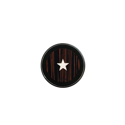 ThaliaCapos.com Wireless Charger Mother of Pearl Star | 70mm Fast Wireless Charger Macassar Ebony