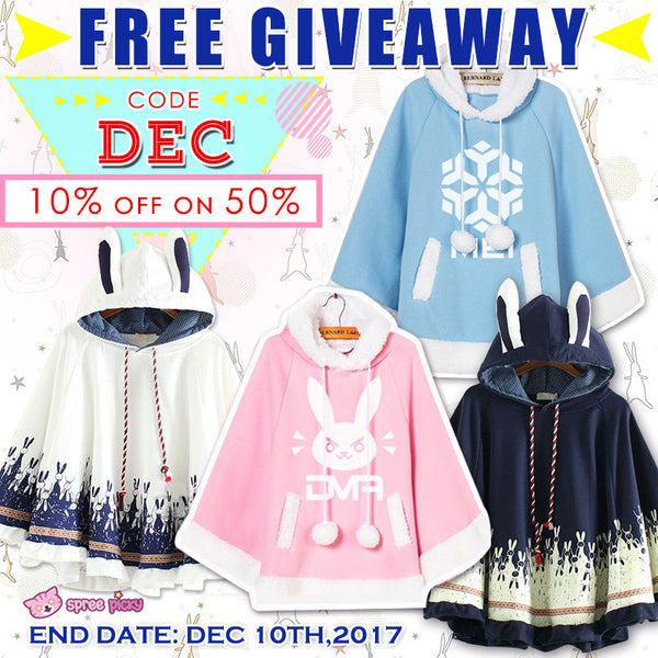 Kawaii Bunny Cape International Giveaway