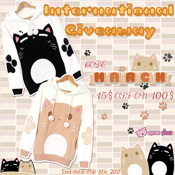 Happy Pretty Women's Day & Kawaii Kitten Sister Hoodie Jumper Giveaway