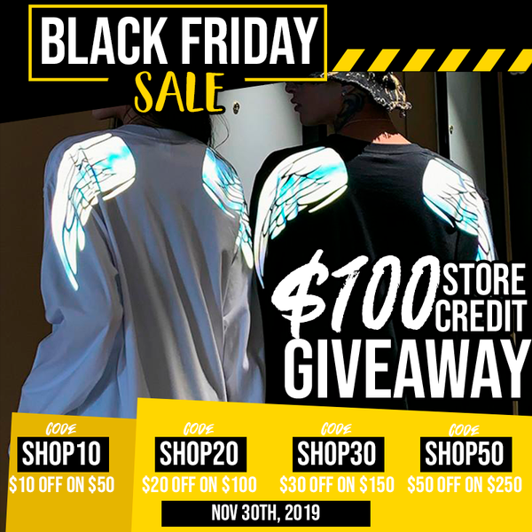 Black Friday Big Sale + Free 100$ Store Credit!