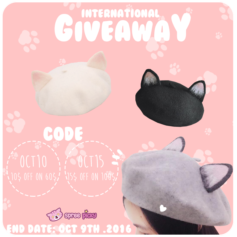 Kitty Cat Ear Beret Giveaway