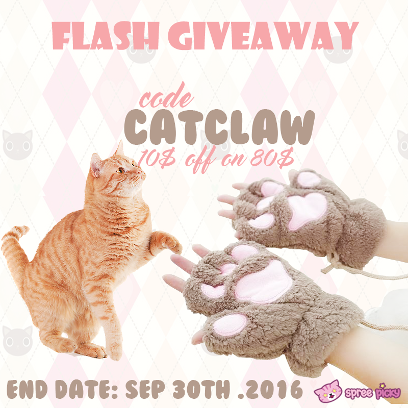 Cat Claw Plush Glove Flash Giveaway