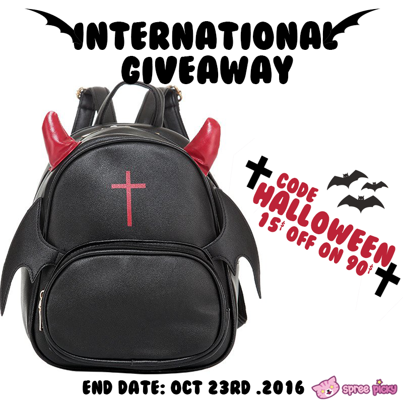 Devil Backpack Halloween Giveaway