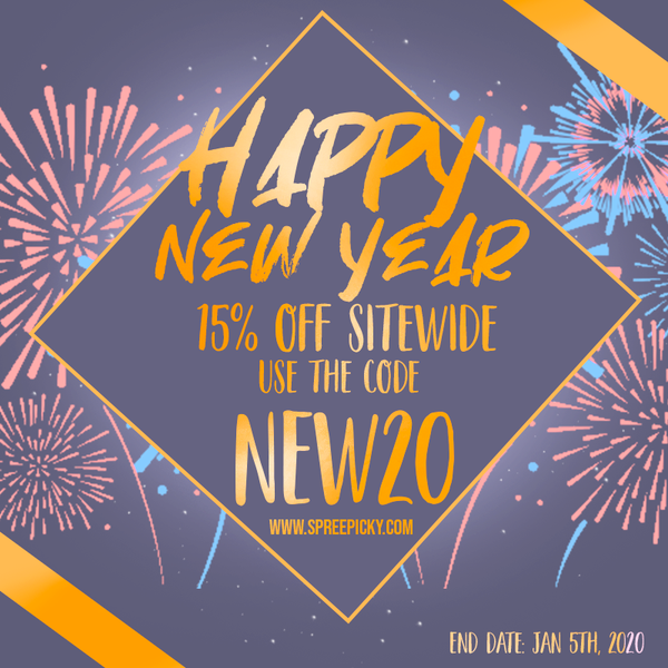 15% OFF New Year Sale & Holiday Notice