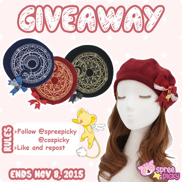 Card Captor Sakura Beret Hat Giveaway