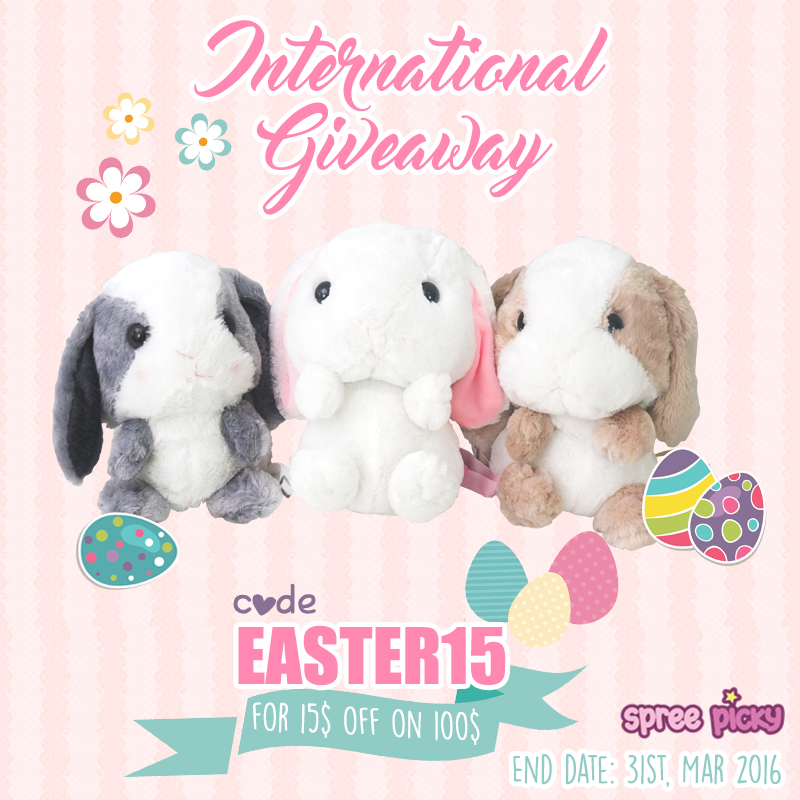 Rabbit Plush Backpack Giveaway And Easter Day Promotion