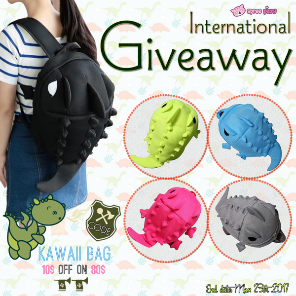 Kawaii Cartoon Dinosaur Backpack Giveaway
