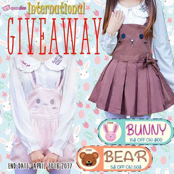 Kawaii Bunny Bear Suspender Pants Giveaway