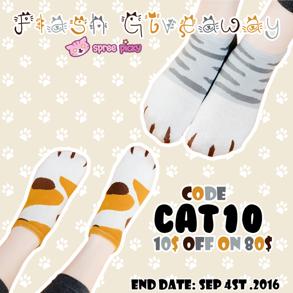 Neko Cat Socks Flash Giveaway