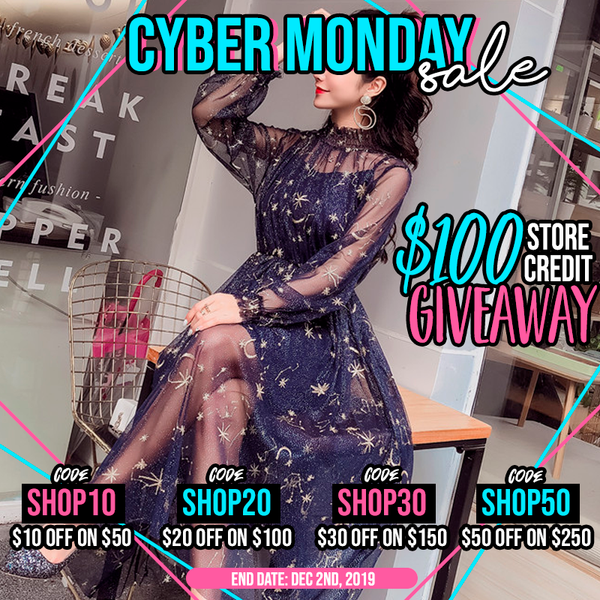 Cyber Monday Big Sale + Free 100$ Store Credit!