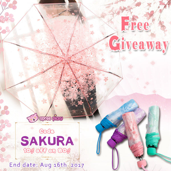 🌸Sakura Clear Umbrella Giveaway☔