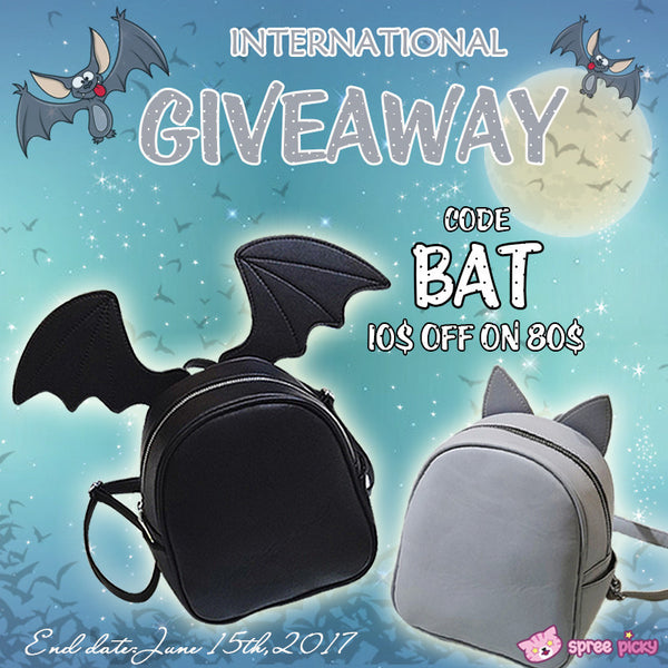 Kawaii Cartoon Ear Backpack Giveaway