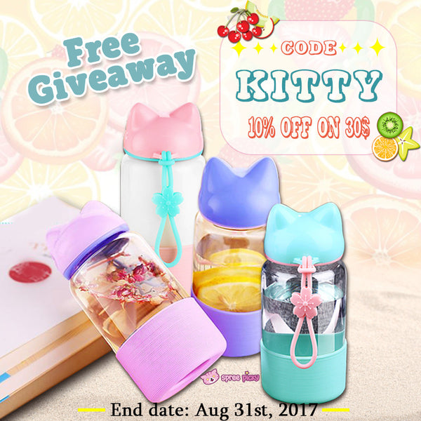 Sakura Kitty Water Bottle Giveaway