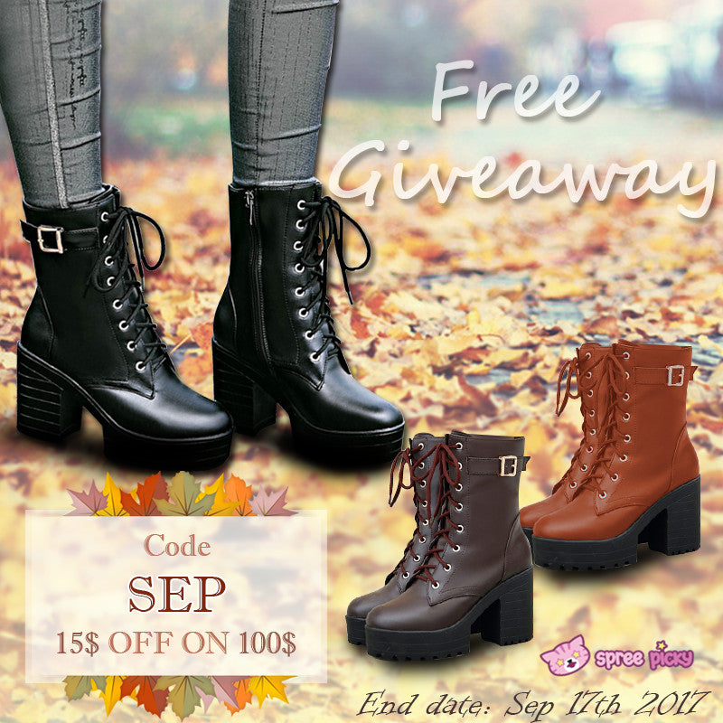 Sweet High Heel Boots Giveaway