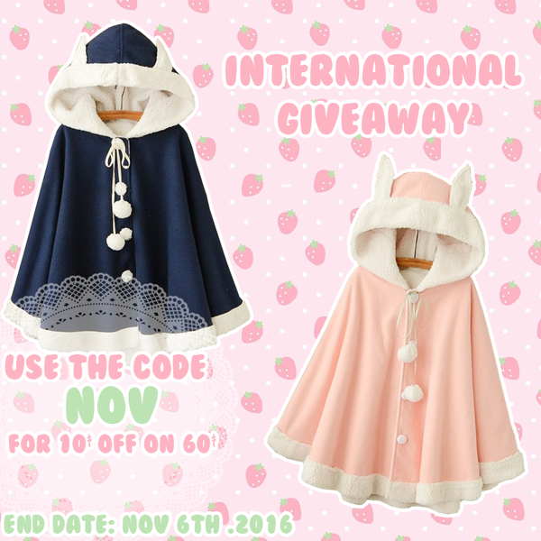 Kawaii Rabbit Cape International Giveaway