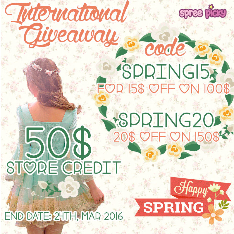 Spree Picky Spring 50$ Store Credit Giveaway