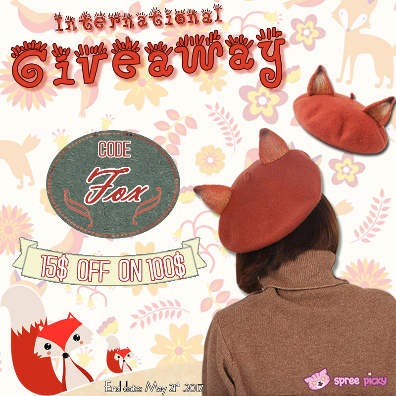 Kawaii Fox Beret Giveaway
