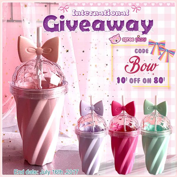 Pastel Bow Bottle Giveaway