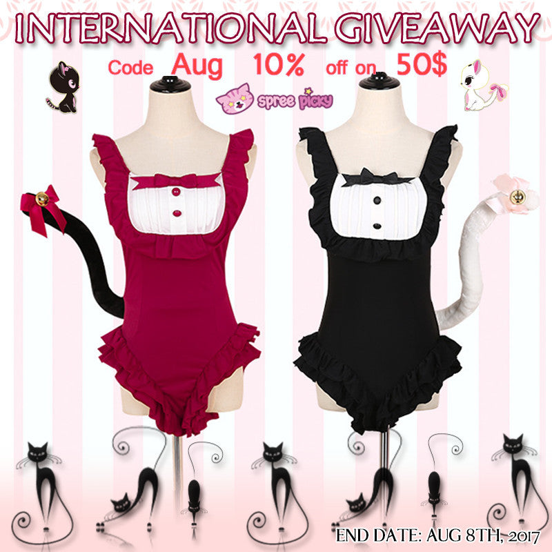 Ruffle Maid Swimsuit Giveaway