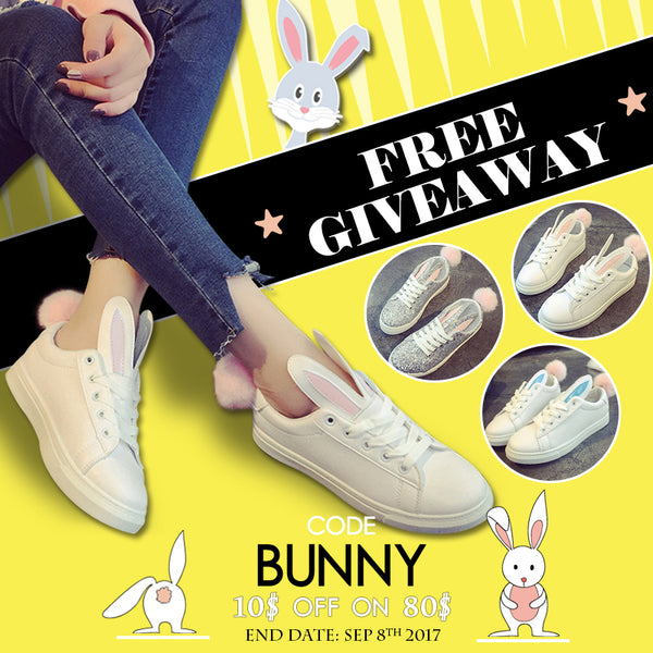 🎊Happy Labor Day & Kawaii Bunny Sneakers Giveaway 🐰