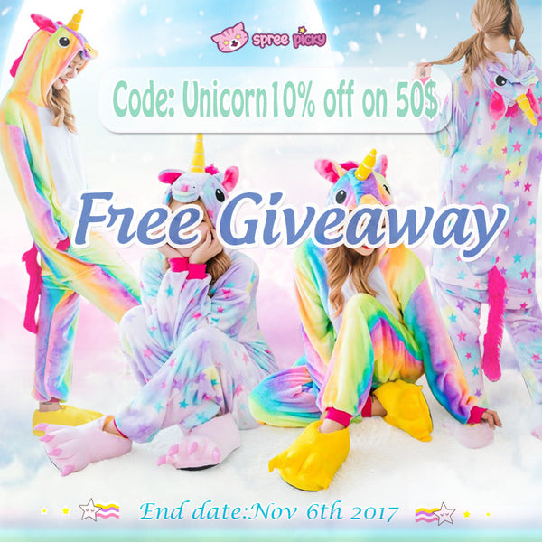 🦄 Rainbow Unicorn Pajamas Giveaway 🦄