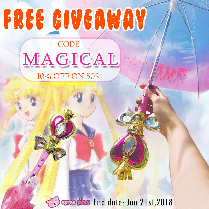 ✨ Sailor Moon Magical Stick Umbrella Giveaway ✨