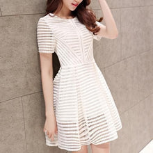 Load image into Gallery viewer, Stylish White Round Neck Short Dress, Party Dress - DelaFur Wholesale