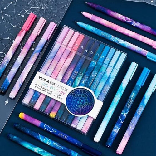 Kawaii Twelve Constellations Gel Pen Set SP011