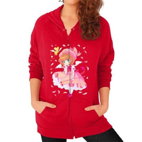 Wonderful Sakura Zip Hoodie (on woman) - SpreePicky  - 7
