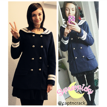 Load image into Gallery viewer, Korean Sailor High Quality Woolen Coat Double Brest SP130220 - SpreePicky  - 4