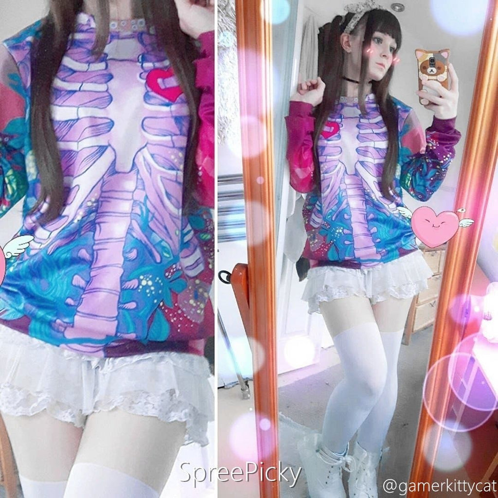 Kawaii Punk 3D Skeleton Skull Jumper SP168081