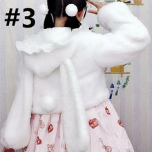 Load image into Gallery viewer, Kawaii Lolita Rabbit Ear Puffy Sleeve Hoodie Jumper SP15166