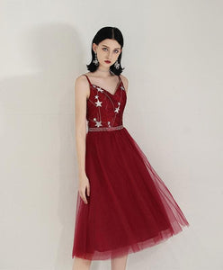Simple Sweetheart Tulle Prom Dress, Tulle Homecoming Dress - DelaFur Wholesale