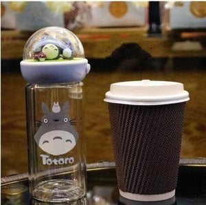 Kawaii Totoro Microlandscape Glass Water Bottle SP11653