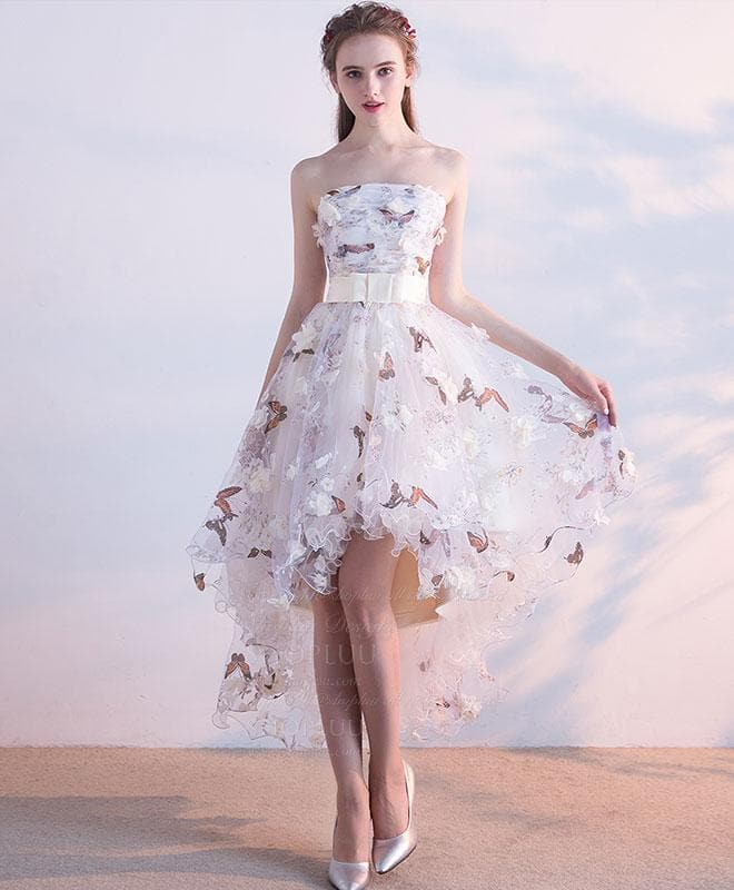 Unique Tulle Lace Short Prom Dress, Tulle Homecoming Dress - DelaFur Wholesale