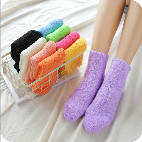 10 Color Warm Winter Socks SP1711041