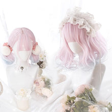 Load image into Gallery viewer, Pink Pastel Gradient Short Curl Wig SP14651