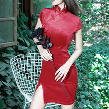 Load image into Gallery viewer, Free Shipping Chinese Female Qipao Gothic Short Style Cheongsam SP14671