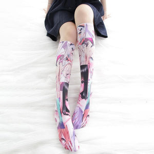 Kawaii Ahego Printing Socks SP14407