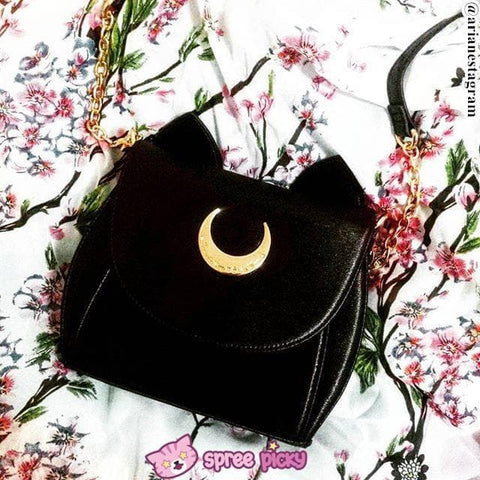 White/Black Sailor Moon Luna/Artemis Shoulder Bag High Quality Version SP152413 - SpreePicky  - 14